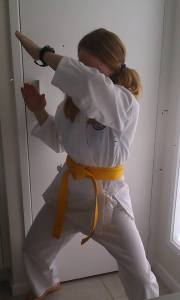 Karate Kate is fighting off middle age.