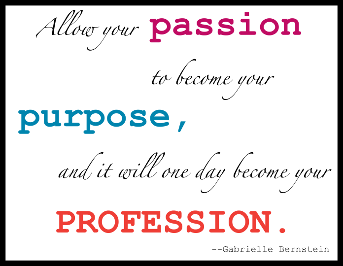 What Is Your Passion Lucretia S Words