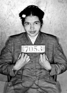 Rosa Parks, Civil Rights Activist - refused to give up her seat to a white passenger in Montgomery, Alabama, 1955.