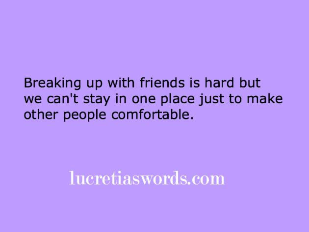 friends break up